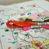 タイ地図刺繍〜タイ滞在の思い出にいかが?〜