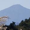 今日の鳥海山⛰ 冠雪はもう溶けてしまった🐱