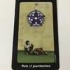 sun and moon tarot : five of pentacles - worry