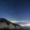 【天体撮影記 第43夜】 長野県 高峰高原からの夜景と星景 クリスマスイブの夜に輝く星空の下で