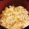 鶏挽き肉と湯葉と卵のそぼろ仕立て