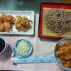 今日の晩飯 さるそばと天ぷらを作ってみた