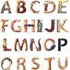 水彩画「アルファベット動物音楽家」