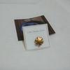 【帯留め】金属かと思ったら陶製!金色の雪輪の帯留め