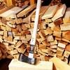 薪割に西山商会特製薪割斧「金太郎」