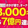 おかげ様で、CHANGE(チェンジ)会員様数8,000名 & 購入総額7億円を達成!
