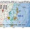 2017年09月13日 09時24分 宮城県沖でM3.0の地震