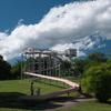 富士山、裾野で庭園の鉄道模型とローラー滑り台