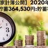 【家計簿公開:貯蓄率66%】2020年12月(+364,530円)