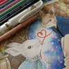 完成】プリズマカラーで『2匹の世界』のページが塗りあがりました☆幸せのメヌエットより