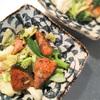 鮭で野菜炒め