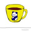 パンダの喫茶店「カフェ 群青パンダ」1  パンダのイラスト