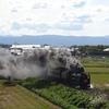 4年ぶりの蒸気機関車「SLこまち号」