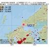 2016年10月05日 18時06分 山口県西部でM2.7の地震