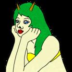 かわいい鬼の女 のイラスト