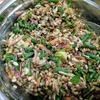 急遽持ち寄り、バーリー&蛋白サラダ