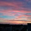 国際ヨーガの日は美しい夕焼け空
