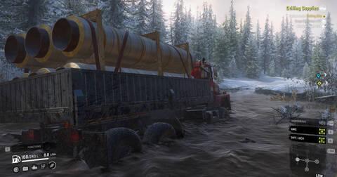 ハードコア雪山トラックシミュレータ『SnowRunner』水没泥んこドライブ日記