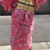 手作りのリップル浴衣とリバーシブルコットン帯でお祭りへ その2 今度は帯締め&帯留めでおしゃれしてみました☆彡