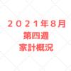 2021年8月第四週 5人家族の家計管理の実績公開