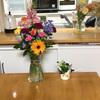 送別会のお花がいっぱい