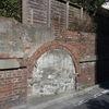 あらかわ遊園付近の煉瓦塀 東京都荒川区西尾久
