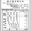株式会社ピーチジョン 第27期決算公告