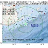 2017年08月22日 05時46分 根室半島南東沖でM3.5の地震