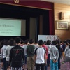 港区立赤羽小学校、5年生に姿勢の授業