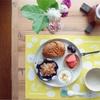 【おうちランチとレシピ】栗のパンと酸味柔らかな胡麻酢和えでひとりランチ