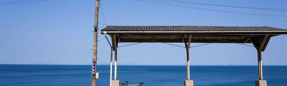 【下灘駅】 鄙びた宿を巡る、冬の四国ライド Part 1/4 (@愛媛県、高知県)