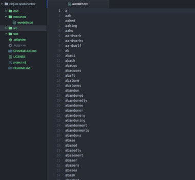 『Clojureはバカには出来ない。』らしいけど『Clojure hands-on tutorial for beginners: building a spell-checker』をバカが楽しんでおきますね。
