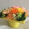 アナロガス配色のフラワーアレンジ
