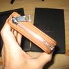 g0001 Ocean-C IQOSレザーホルダーケース 手帳型(一式収まる/シッパー式/薄型)長財布のように見えるiqosカバー ブラウン
