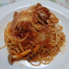 帆立のトマトソーススパゲティ