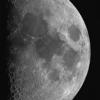上弦の月のモザイク撮影