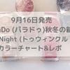2020年9月16日発売!ParaDo(パラドゥ)ミニネイル Twinkle Night(トゥウィンクルナイト)カラチャ&レポ