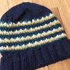 三國さんの「4色ボーダーの帽子」は男の人にピッタリのニット帽