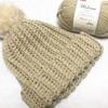 かぎ針でゴム編み風ニット帽