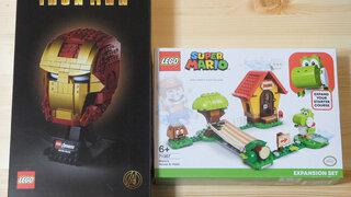 【LEGO】マーベル スーパー・ヒーローズ 「76165:アイアンマン ヘルメット」とレゴ マリオの拡張セット「71367:ヨッシーとマリオハウス」を購入!