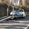 伊豆市からレッカー車で車検切れのパンク車を廃車の出張引き取りしました。