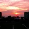 弥彦山から見る夕陽