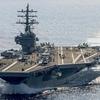 米空母2隻が再び南シナ海で演習 7月上旬に続き