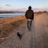 日曜の夕方は江南の河原をブラブラお散歩