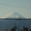 春雪の富士山