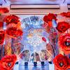 Trang trí tiệc cưới cao cấp với tông màu đỏ