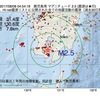 2017年08月08日 04時54分 鹿児島湾でM2.5の地震