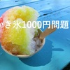 かき氷が高い!1000円以上が普通になってるの?色々計算してみた件