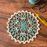 編み図2種類|エミーグランデカラーズ&ハーブスで編み直しました|#100ドイリー 3枚目