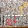 ラグランセーターを編んでいます。ゴム編に変わる時には目数の調整が必要。均等に増やしたい時には…